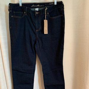 Eddie Bauer Slightly Curvy Straight Leg Jeans